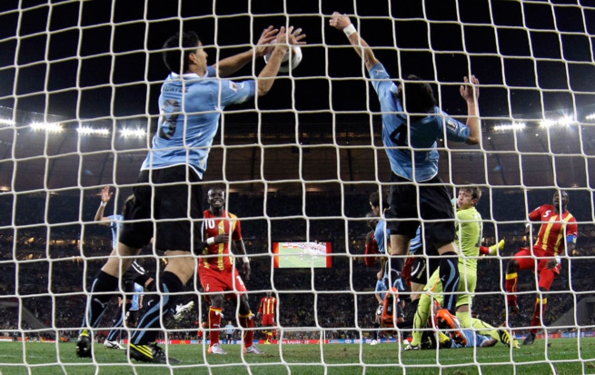 Controversy encapsulated Luis Suarez at the 2010 FIFA World Cup, as his intentional handball against Ghana resulted in his sending off, but also kept Uruguay alive in the quarterfinals.