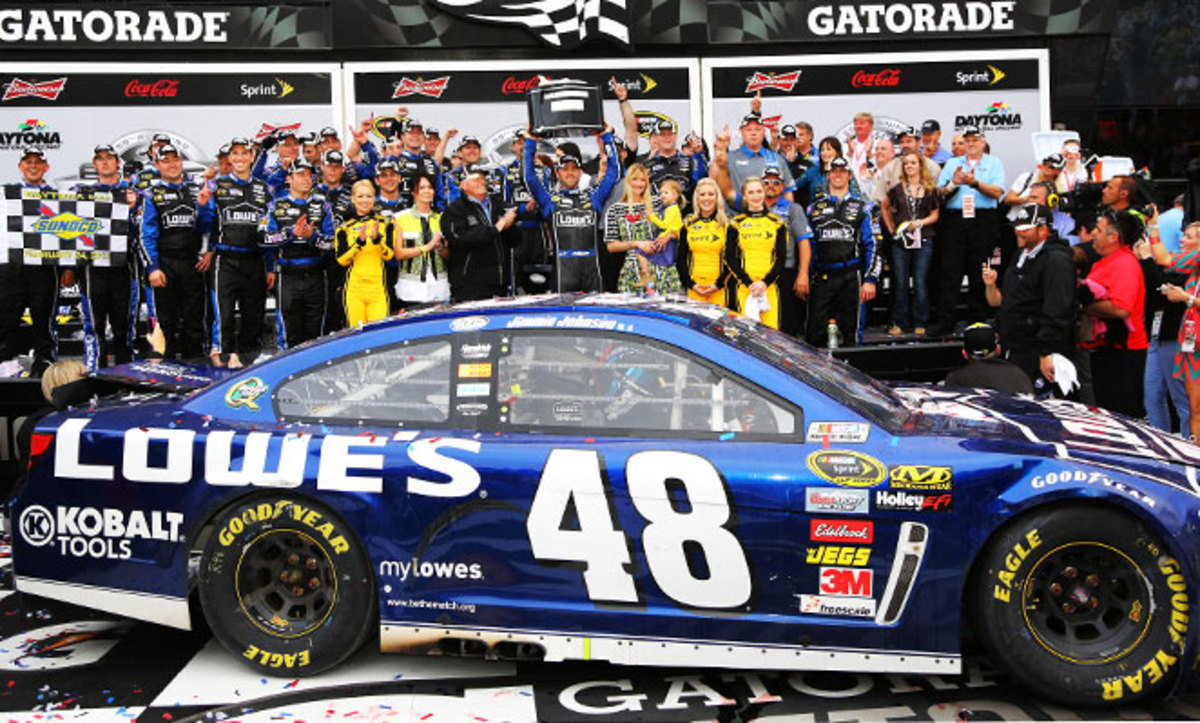 Jimmie Johnson won the first Sprint Cup race in the new Gen-6 car -- the 61st win of his career and his second Daytona 500 victory.