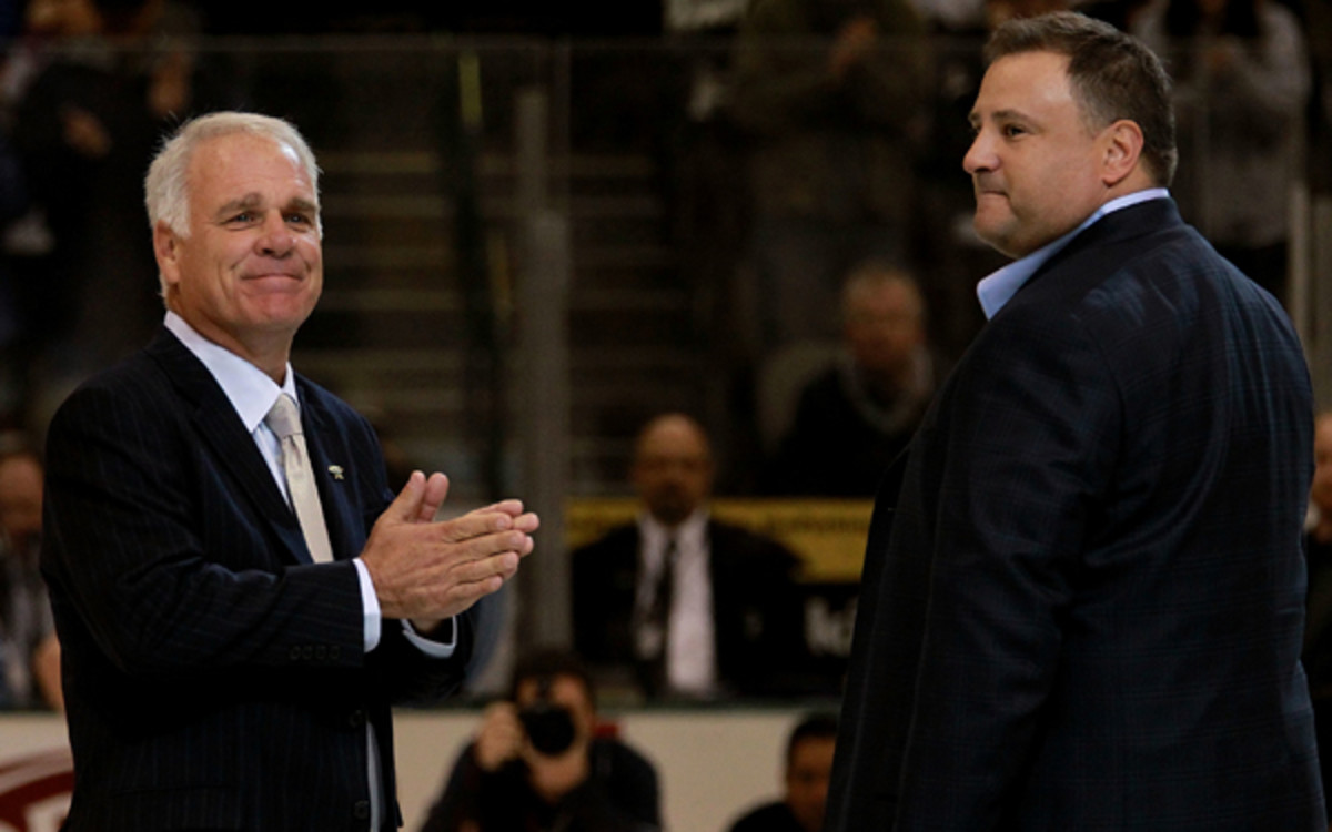 A new logo and uniform are among the changes Dallas Stars president Jim Lites and owner Tom Gaglardi have in store for 2013-14. (Ronald Martinez/Getty Images)