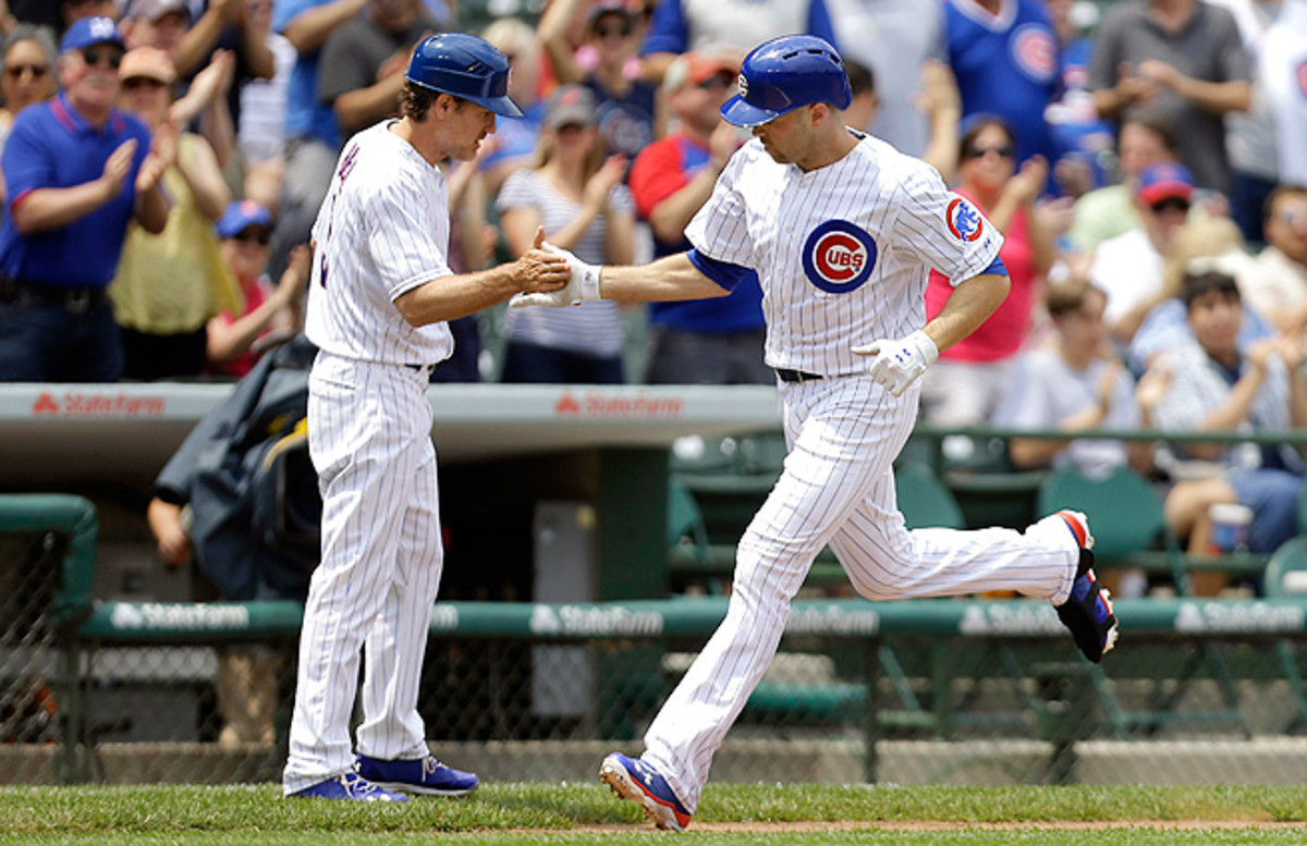 Cubs outfielder Nate Schierholtz has hit three home runs and knocked in six runs so far this month.