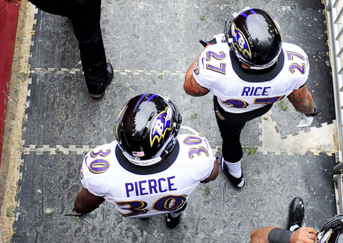 Ray Rice led the Ravens in rushing in 2012, but Bernard Pierce made a big impact in the playoffs.