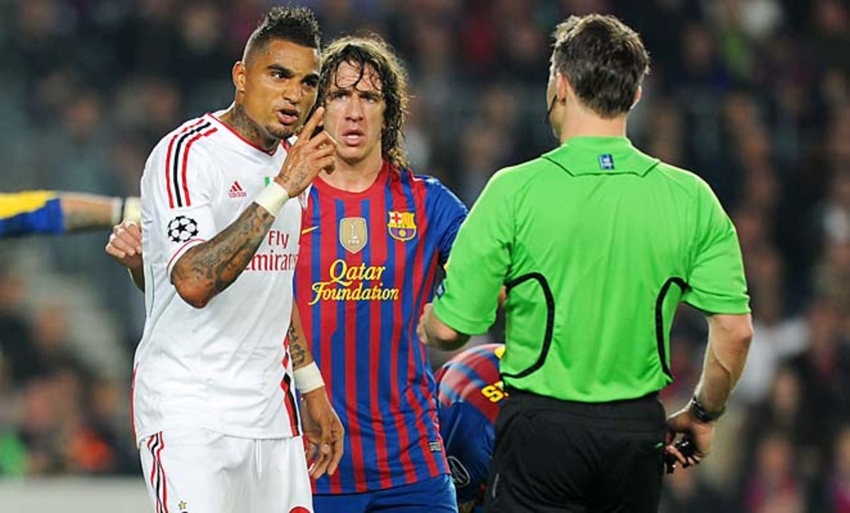 Kevin-Prince Boateng (left) has led the player movement against racism in soccer.