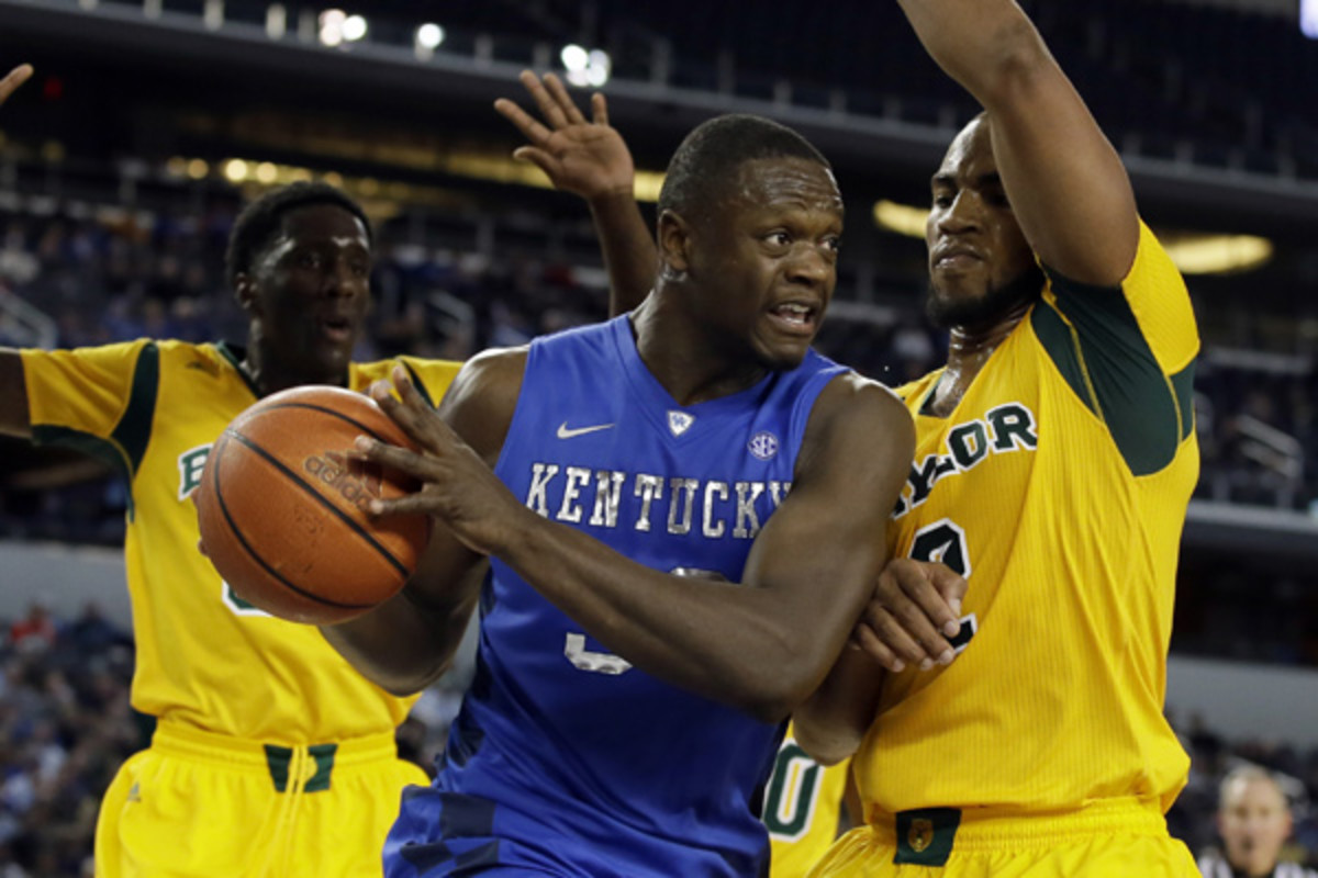 Julius Randle and Kentucky are deep in talent, but couldn't contend with an experienced Baylor squad. (Tony Gutierrez/AP)