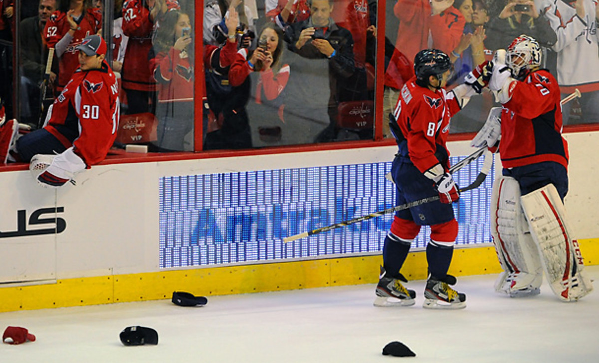 Alex Ovechkin showcased his star power with a hat trick on Saturday afternoon. [Mark Goldman/Icon SMI]