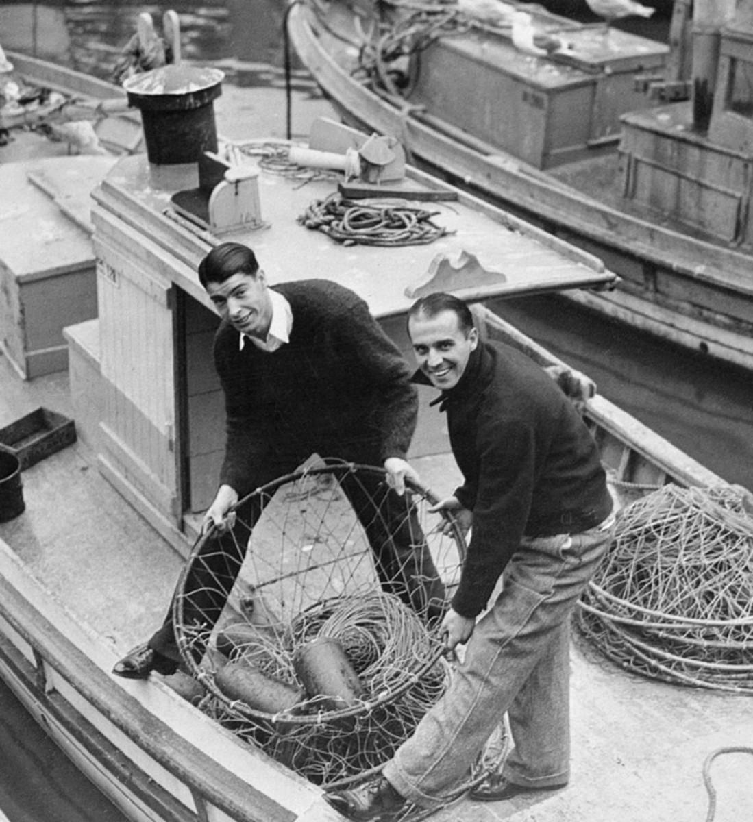 Joe DiMaggio and Frank Crosetti