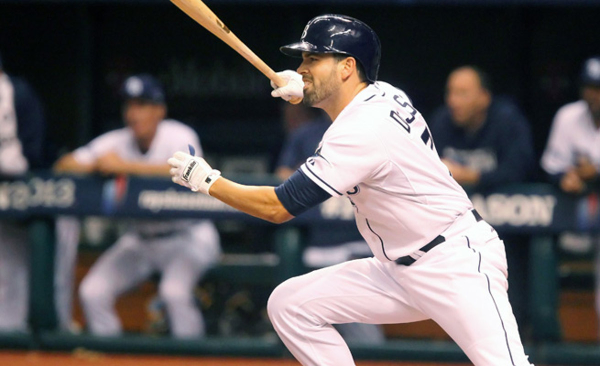 David DeJesus hit two homeruns with 11 RBIs in 35 games with Tampa Bay down the stretch last season.