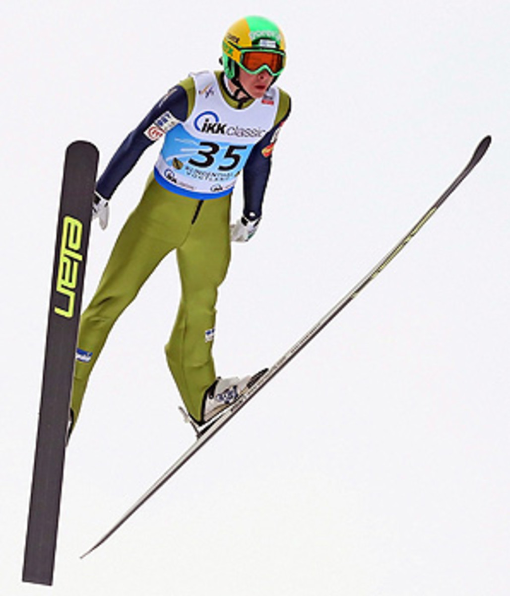 Slovenian teenager Jaka Hvala jumped 142.5 meters and 133 meters for the win.