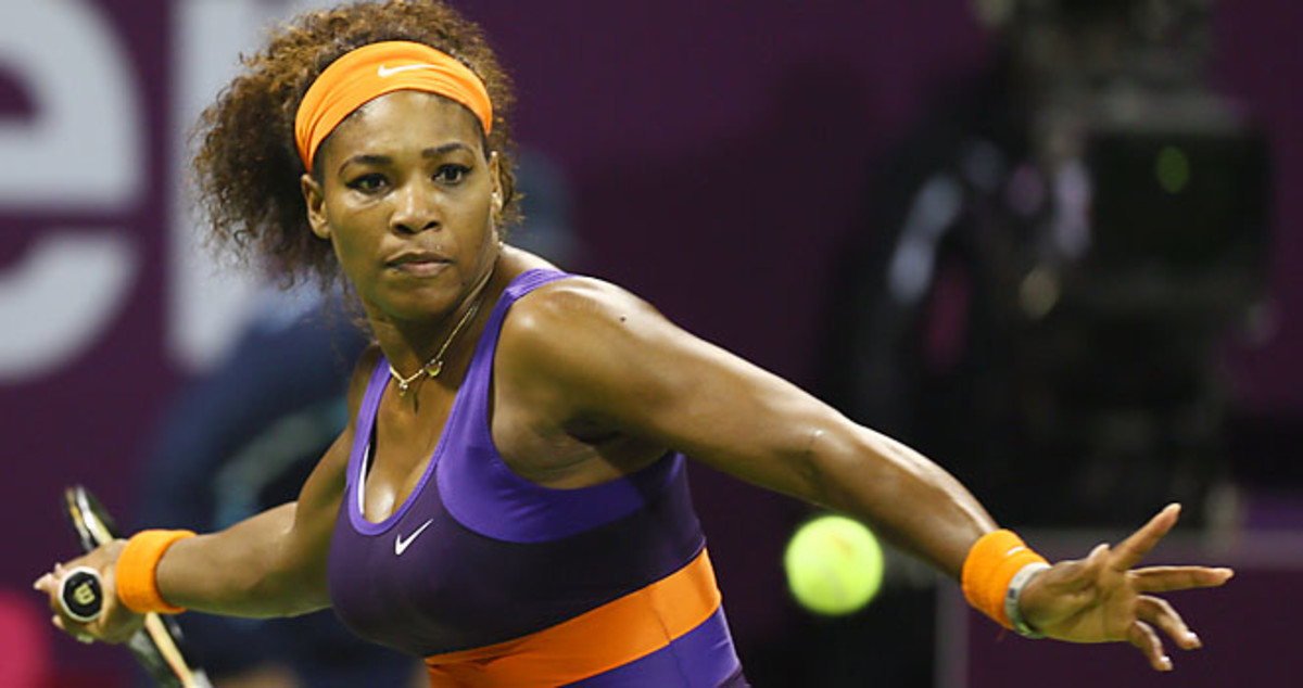 Serena Williams lost to Victoria Azarenka for the second time in her career at the Qatar Open.