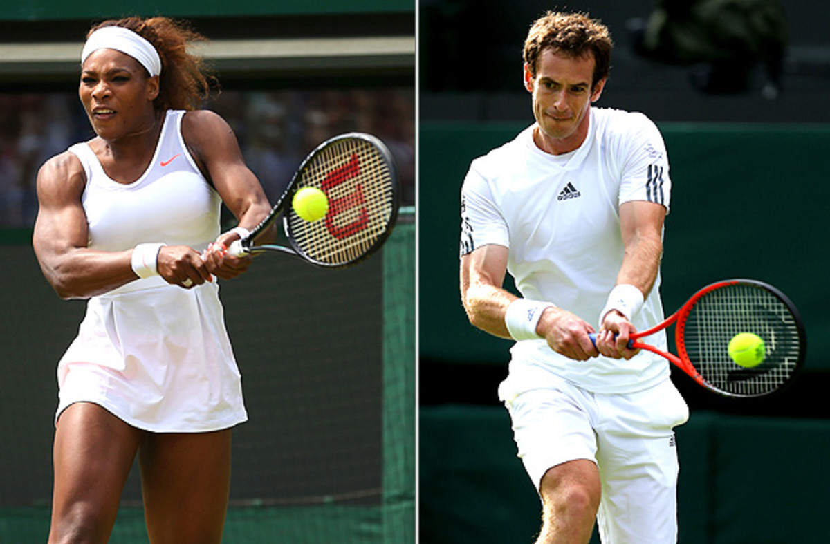 (Serena Williams: Julian Finney/Getty Images, Andy Murray: Clive Brunskill/Getty Images)