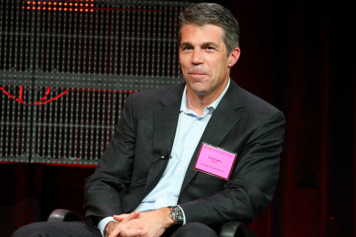 Broadcaster Chris Fowler has hosted ESPN's famous College GameDay since 1990.
