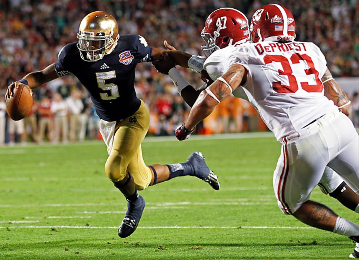 Notre Dame's Everett Golson against Alabama