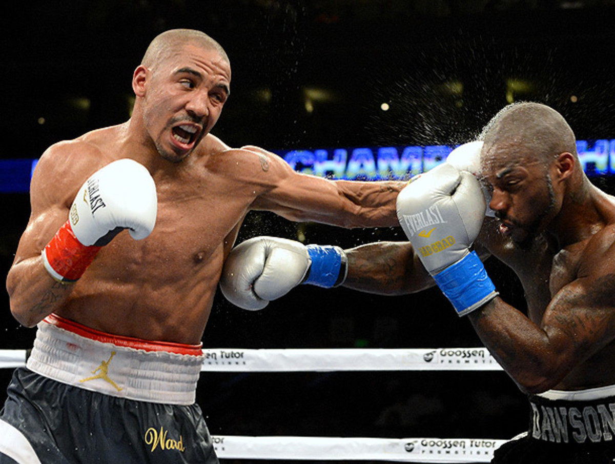 Andre Ward (left) has posted an undefeated mark of 26-0 for his career to this point. (Naoki Fukuda/AFLO/Icon SMI)