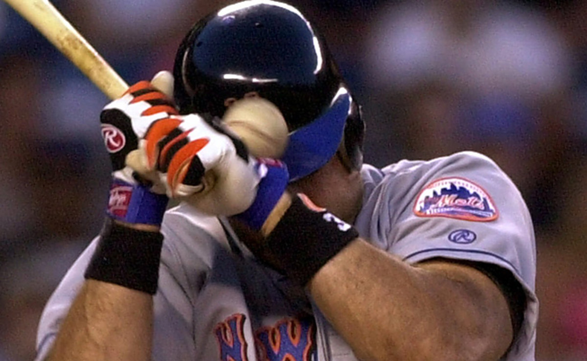 Roger Clemens beaned Mike Piazza with a pitch during a regular-season Subway Series game in 2000.