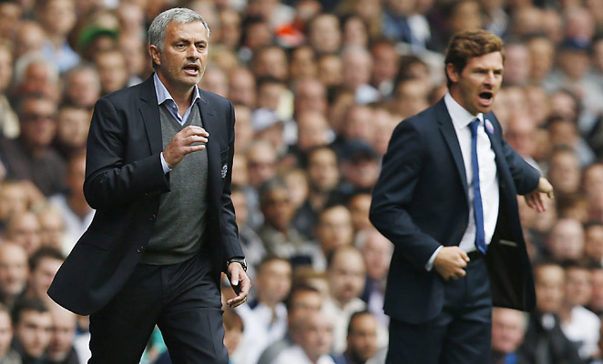 Chelsea's Mourinho (left) has reportedly fallen out with Tottenham's Andre Villas-Boas.