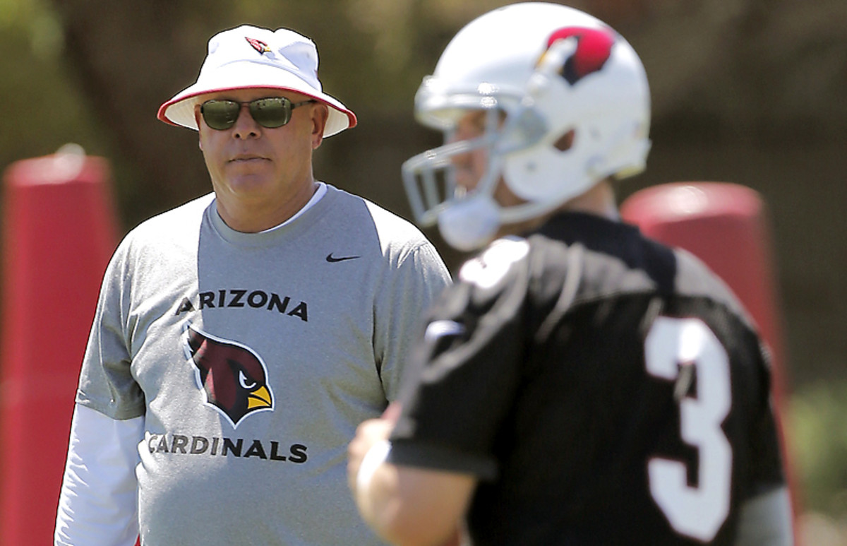 Bruce Arians brought in Carson Palmer in part because Palmer's big arm matches Arians' penchant for going deep.