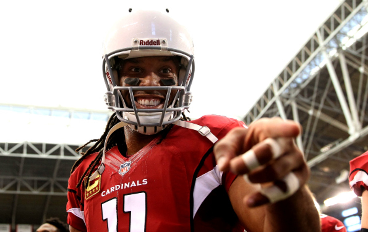 Larry Fitzgerald says he is not focusing on reports that he will be on the trading block this offseason.