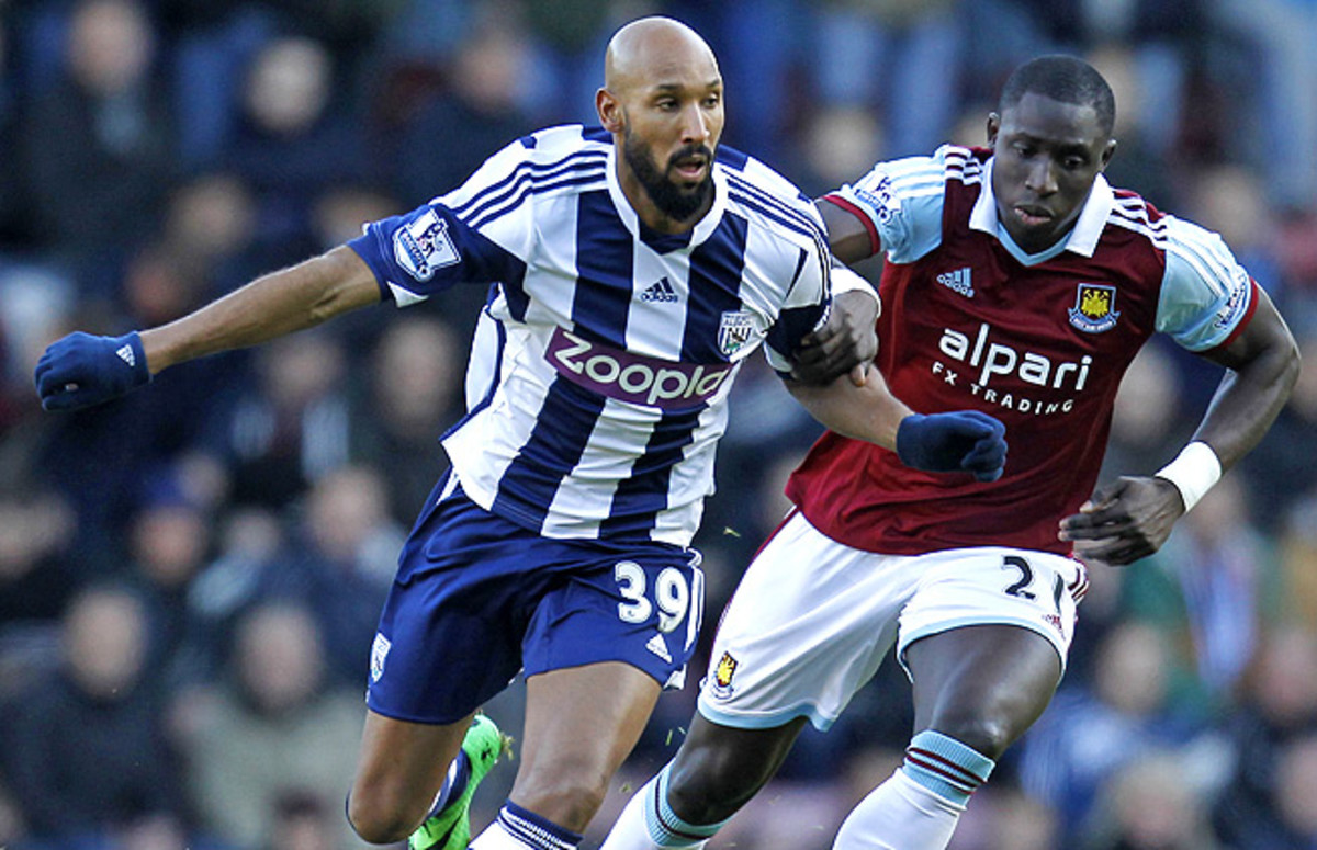 Nicolas Anelka has been criticized for a controversial gesture during a goal celebration against West Ham.
