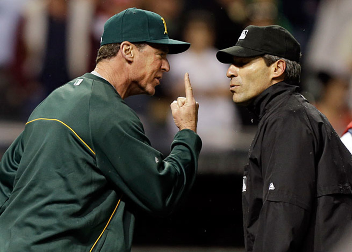 Bob Melvin's A's were hurt by an umpires' decision even after using instant replay during a game in May.