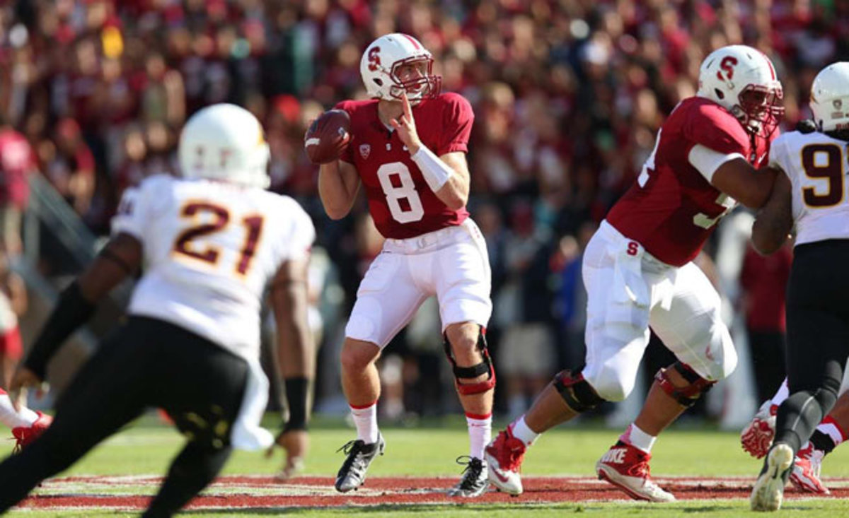 Stanford's David Shaw said Kevin Hogan 'played more like a veteran quarterback' against the Sun Devils.