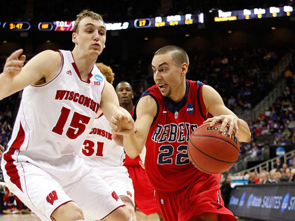 Despite poor shooting early on, Ole Miss' Marshall Henderson helped the Rebels to an upset win over Wisconsin. (Ed Zurga/Getty Images)