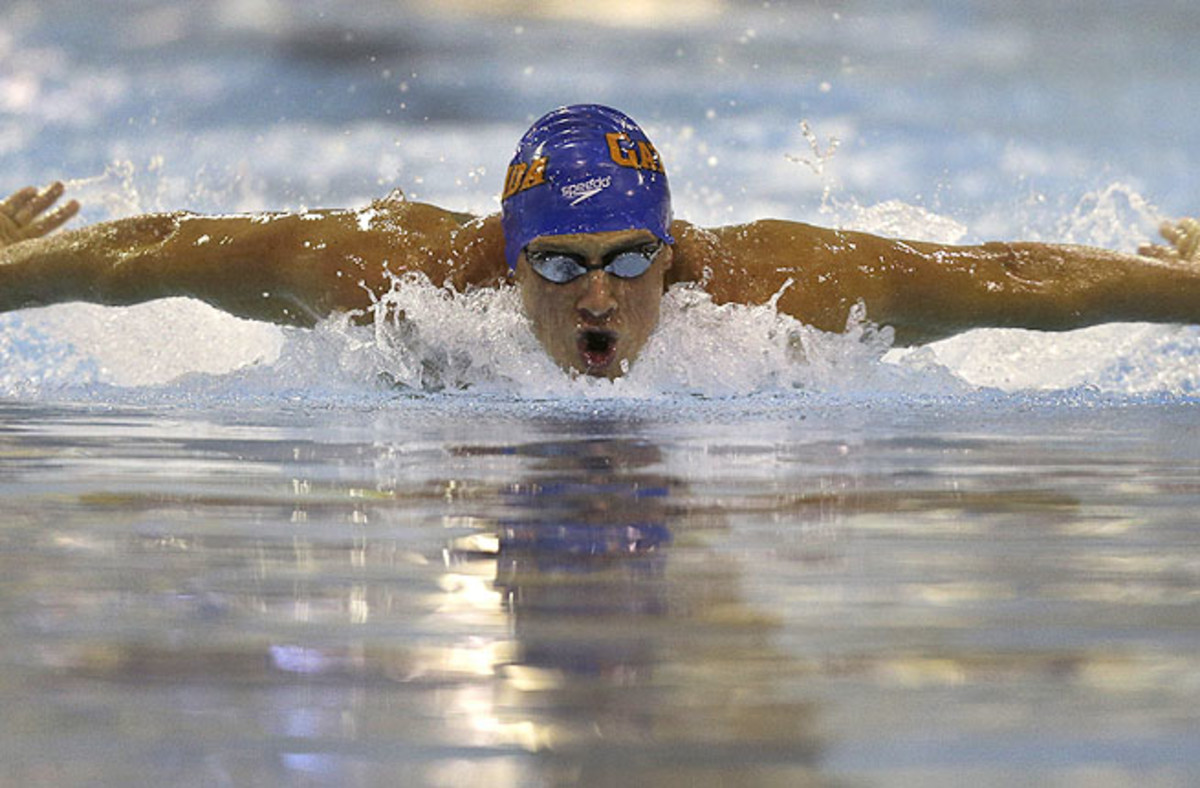 U.S. Olympic champ Ryan Lochte won the 200-meter individual medley in a meet-record 2 minutes, 0.15 seconds.