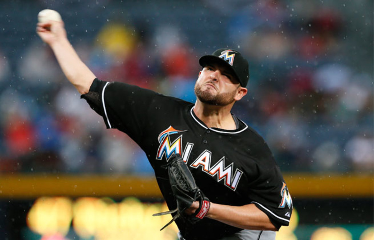 Ricky Nolasco made 18 starts for the Marlins this season, going 5-8 with a 3.85 ERA.