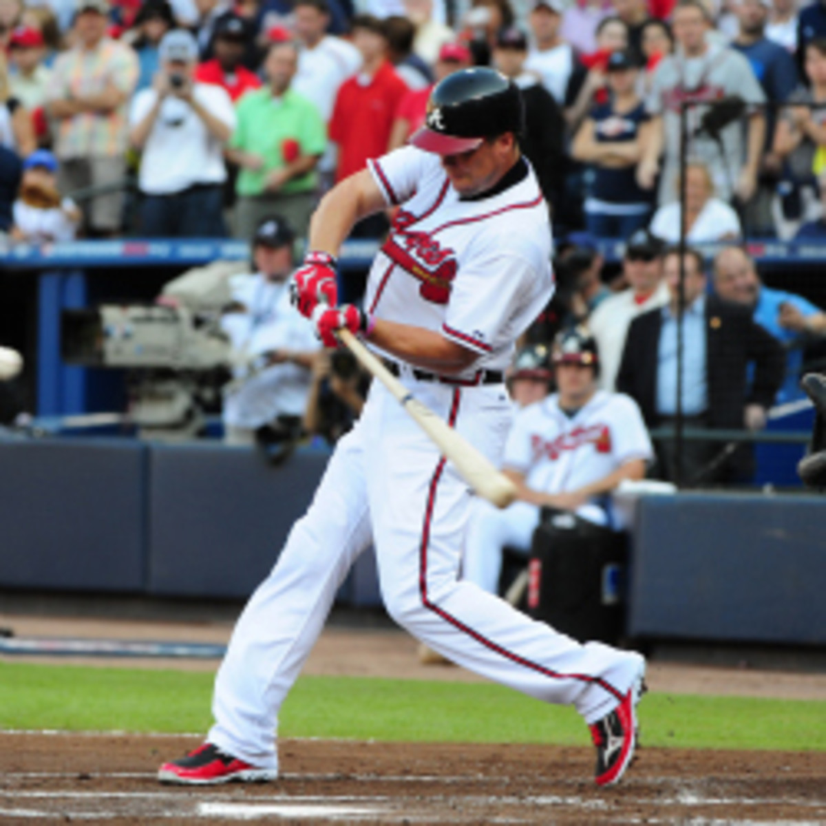 The Braves will induct Chipper Jones into their Hall of Fame and retire his jersey on June 28. (Scott Cunningham/Getty Images)