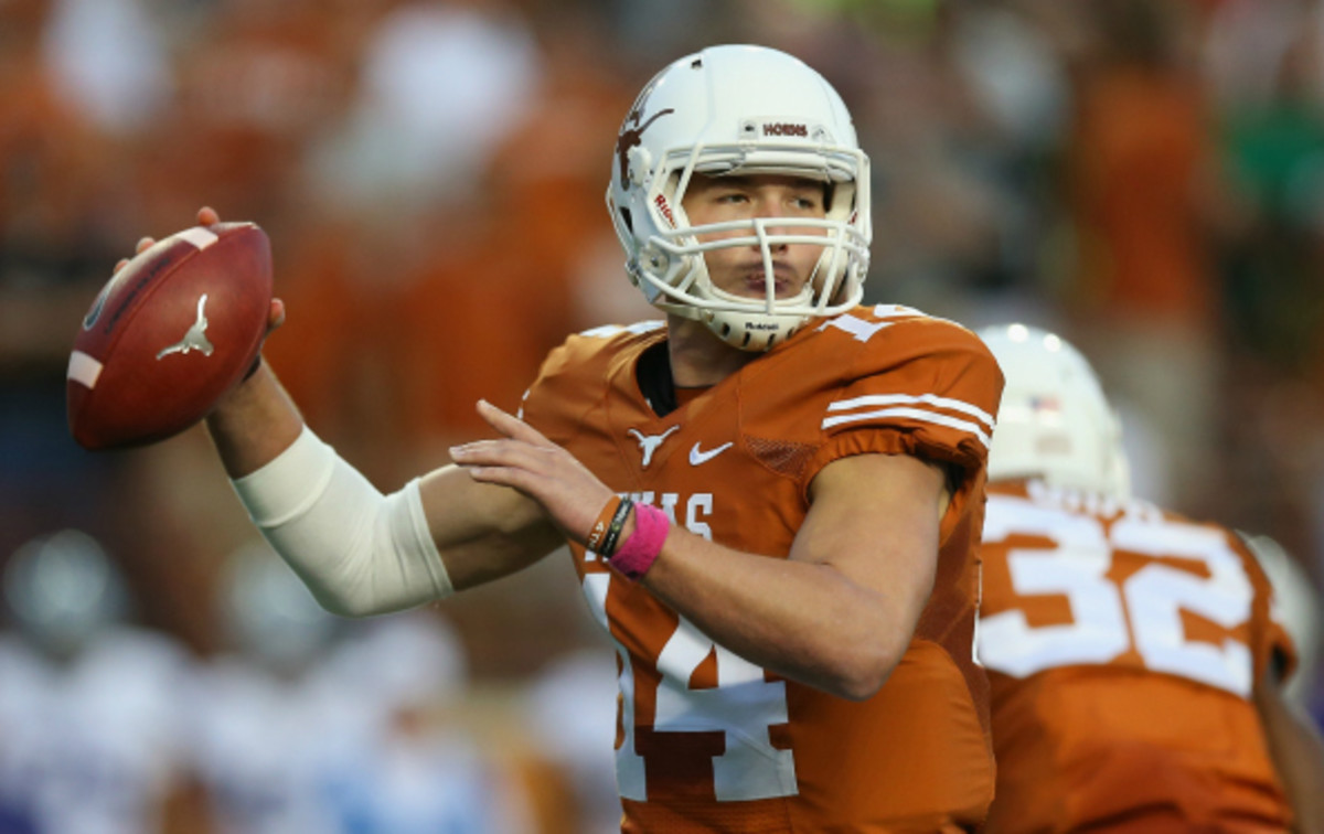 David Ash has only appeared in three games in his third year at Texas. (Ronald Martinez/Getty Images)