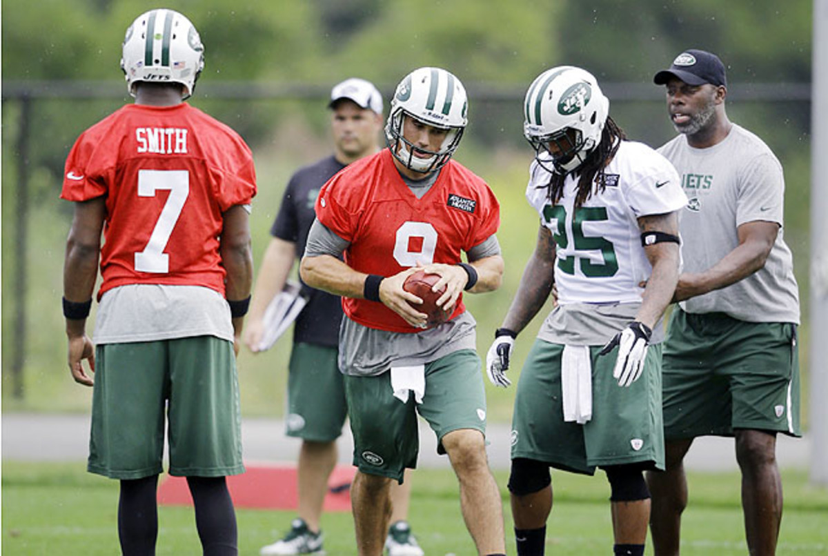 Quinn (9) was brought in after Geno Smith struggled and Mark Sanchez was injured in preseason.