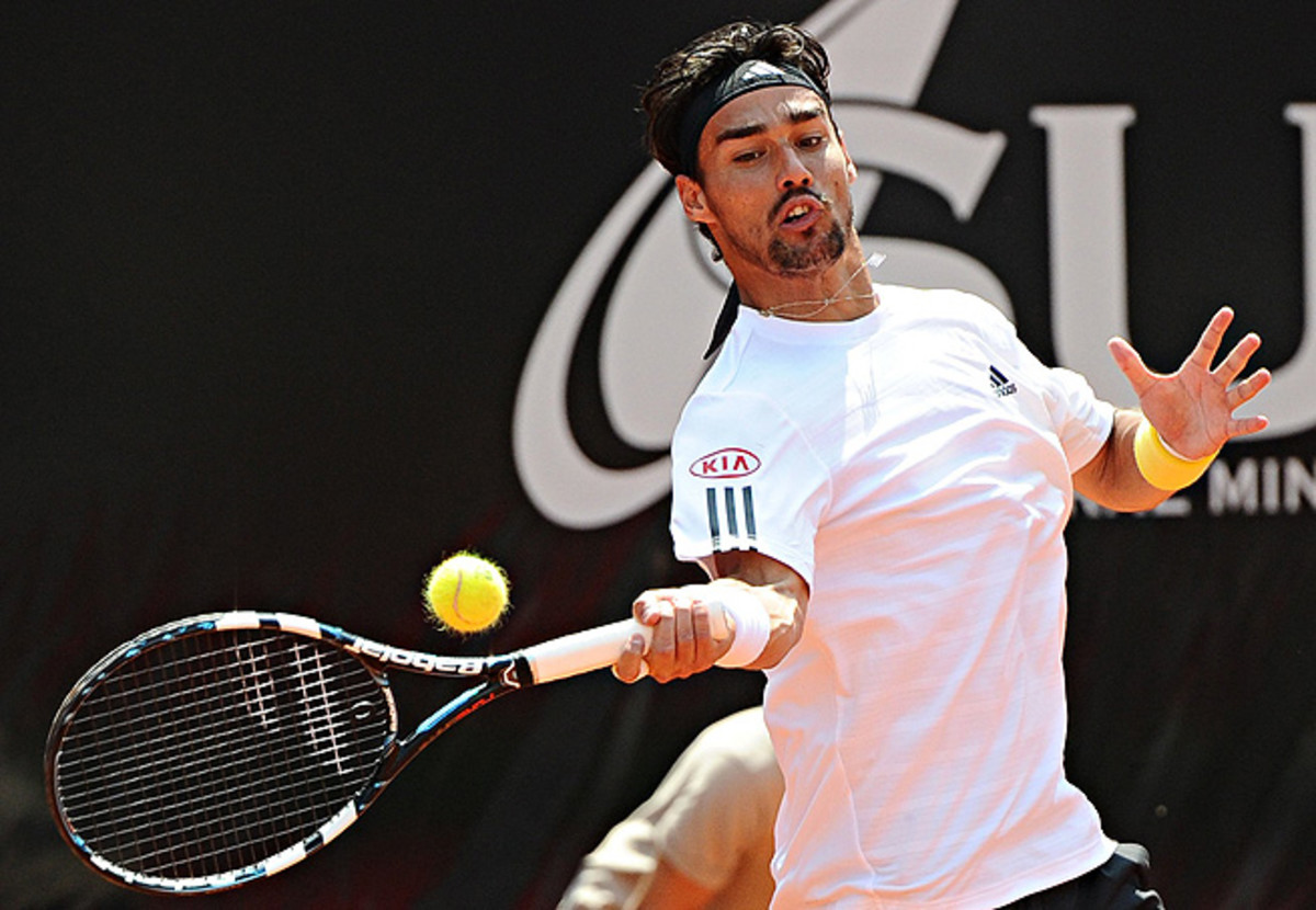 After trailing 3-1 in the first set, Fabio Fognini mounted a comeback and won four straight games.
