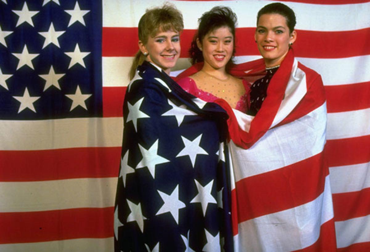 Tonya Harding, Kristi Yamaguchi and Nancy Kerrigan :: Heinz Kluetmeier/SI