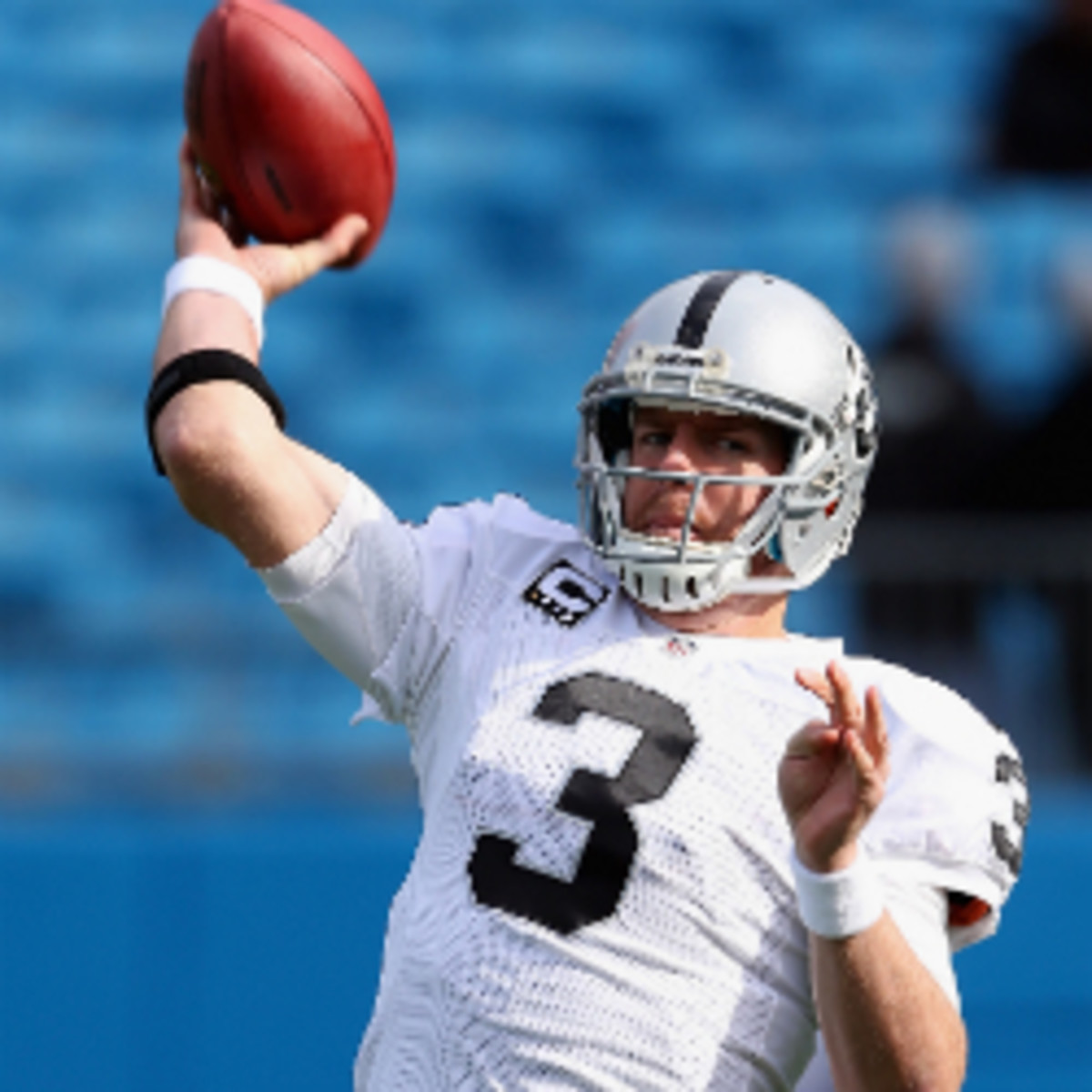 Carson Palmer is reportedly adverse to restructuring his contract. (Streeter Lecka/Getty Images)
