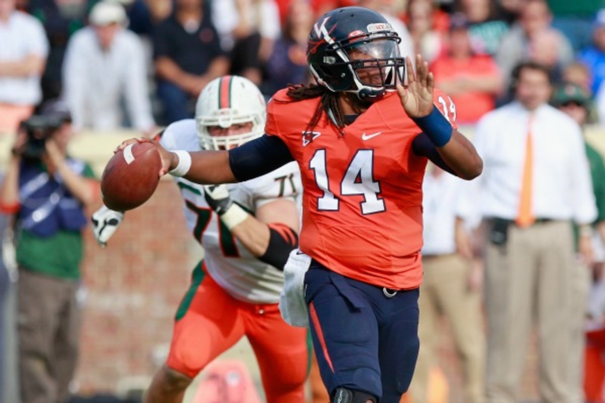 Phillip Sims played in all 12 UVA games last season. (Geoff Burke/Getty Images)
