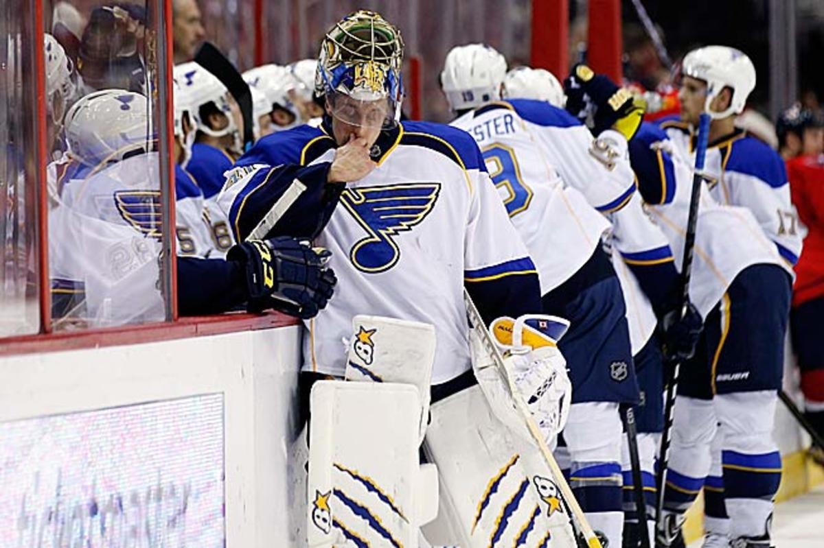 The Blues are on a roll, but goalie Jaroslav Halak has given cause for pause with his shaky play.