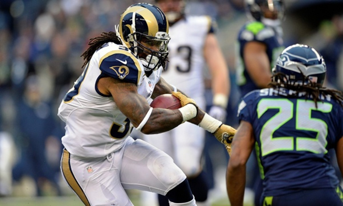 Steven Jackson was the Rams' first-round pick at the 2004 draft. (G. Newman Lowrance/AP)