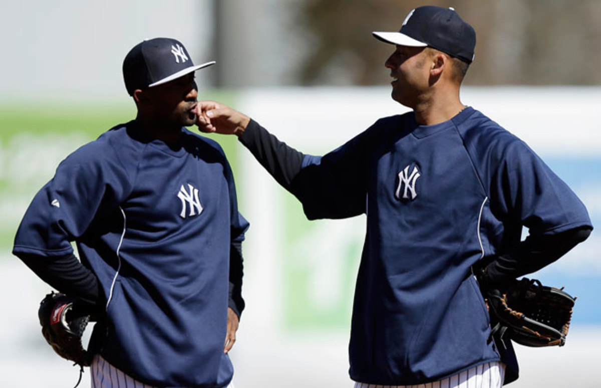 Derek Jeter took part in most of the drills during the Yankees' first full-squad spring training workout.