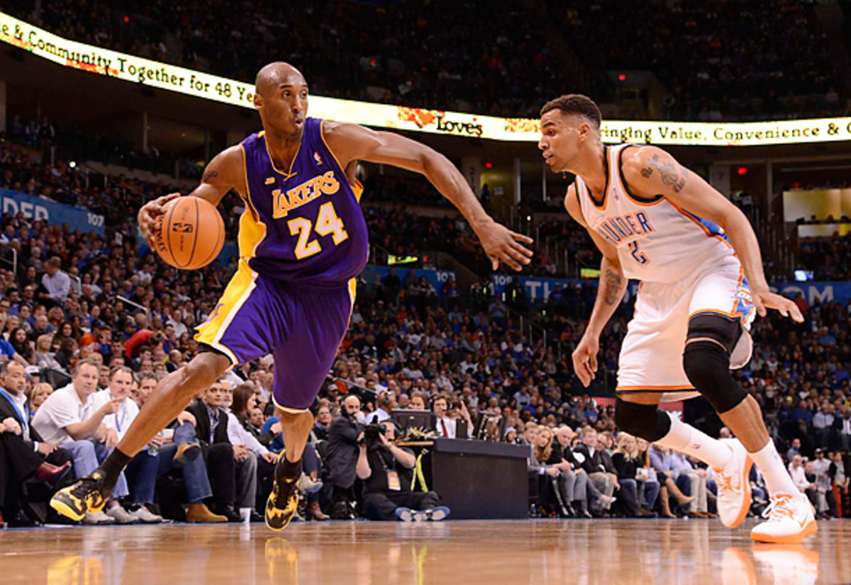 The inability to play at an elite level is likely to drive Kobe Bryant to retire more than a physical decline, according to Grover. (Greg Nelson/SI)