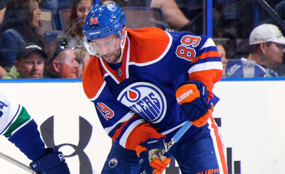 Sam Gagner lost teeth and broke his jaw after being hit in the face with an errant stick.