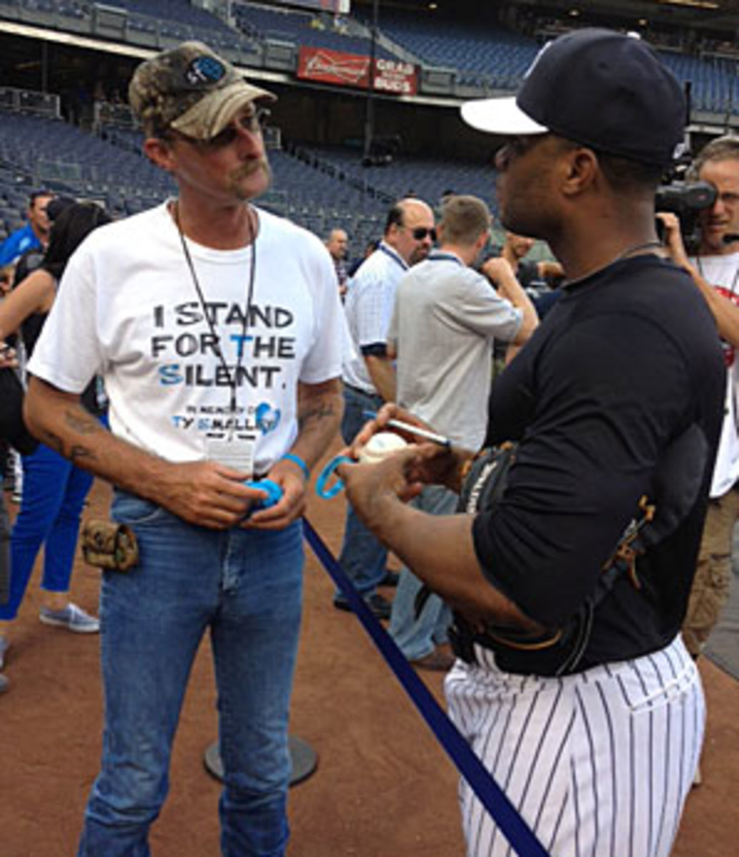 Kirk Smalley met with Robinson Cano, among other Yankees, during last week's visit.