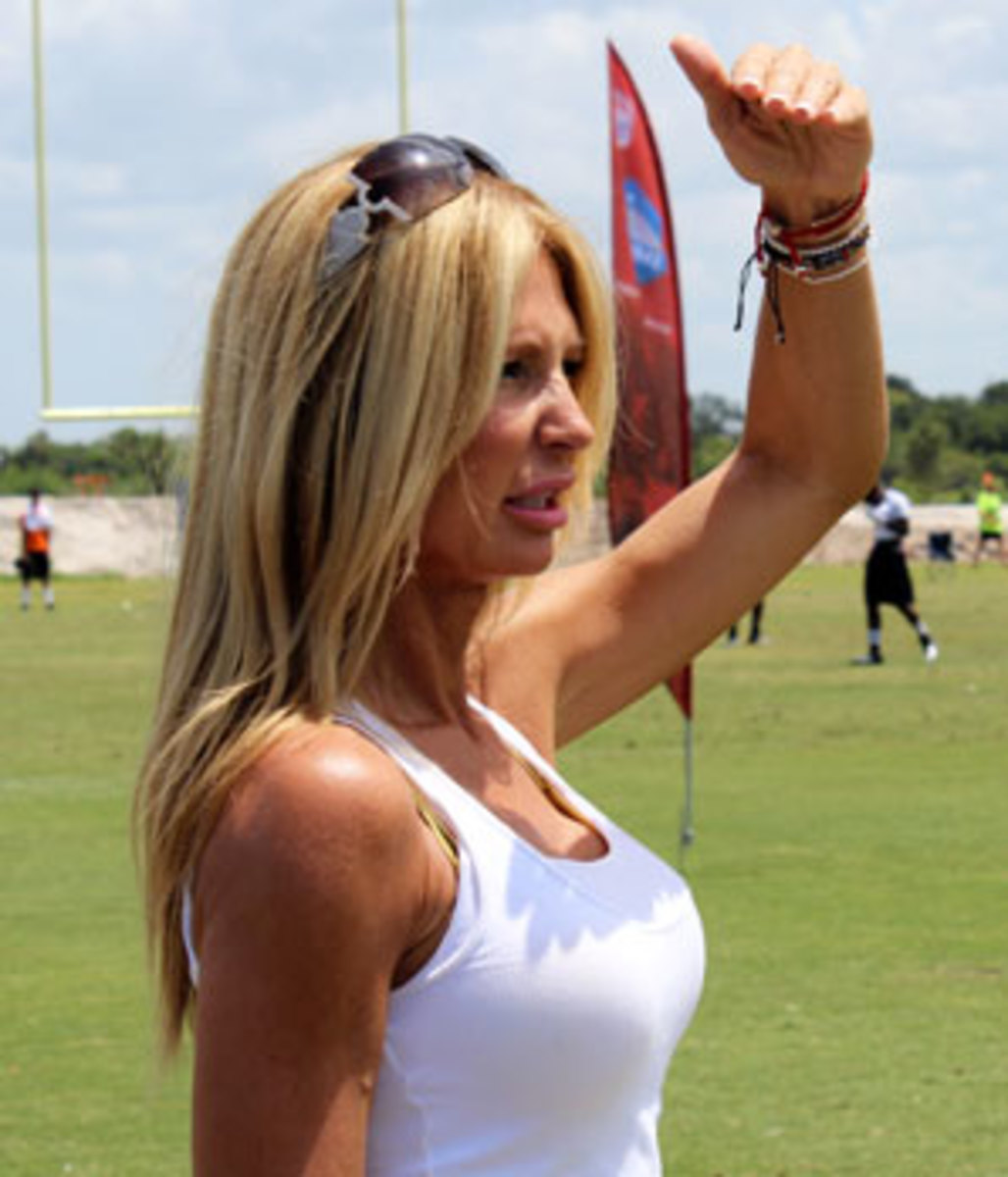 Gina Topolinski footed most of the $15,000 bill to get the IDFFL team to Florida for a 7-on-7 tournament.