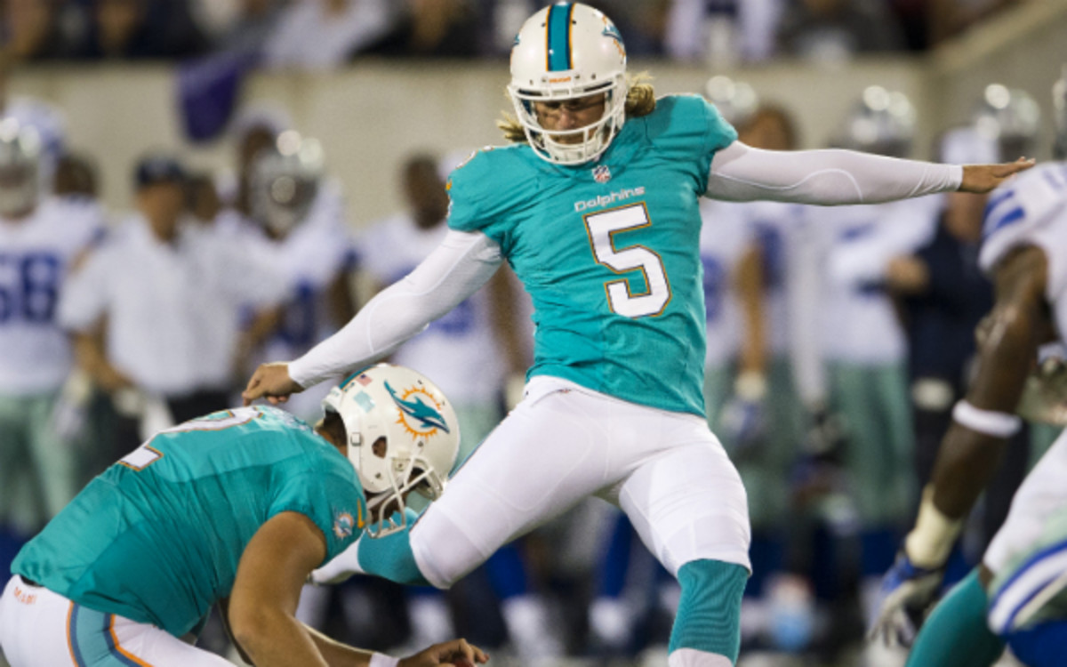 After being cut by the Dolphins, kicker Dan Carpenter has signed with the division-rival Bills. (Jason Miller/Getty Images)