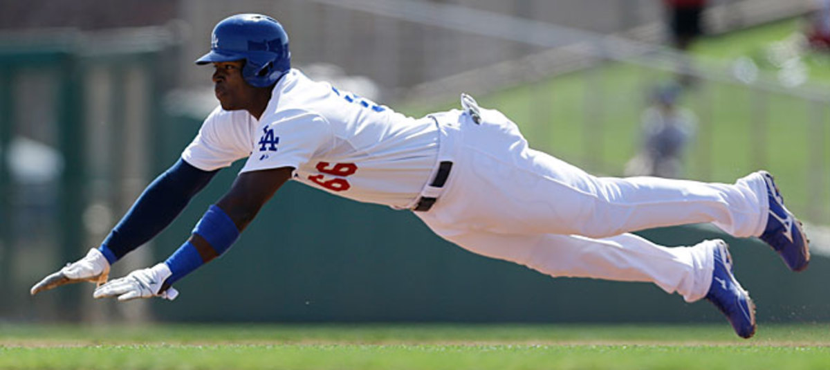 Yasiel Puig had a tremendous spring training for the Dodgers but opened the season in the minors.