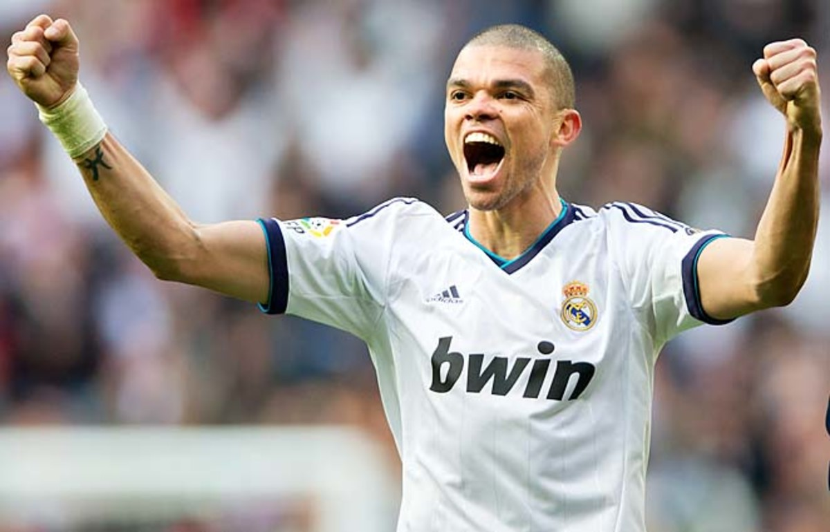 Pepe and Real Madrid are defending a 3-0 lead after the first leg with Galatasaray.