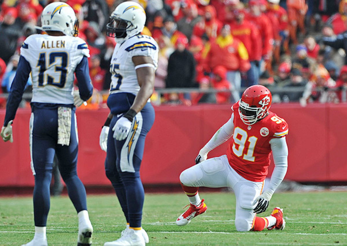 The Chiefs could be without Tamba Hali (right) for their Week 13 matchup with the Broncos.