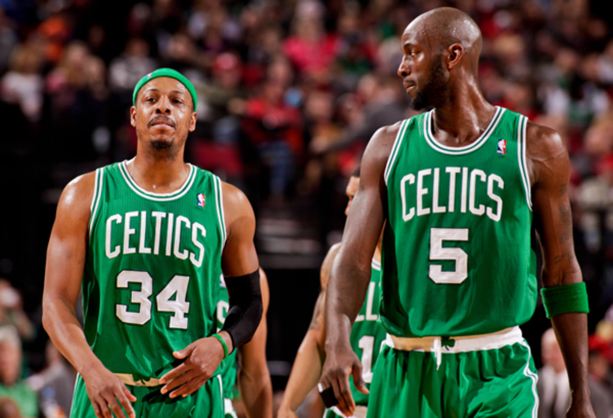 Paul Pierce (left) and Kevin Garnett are headed to Brooklyn.