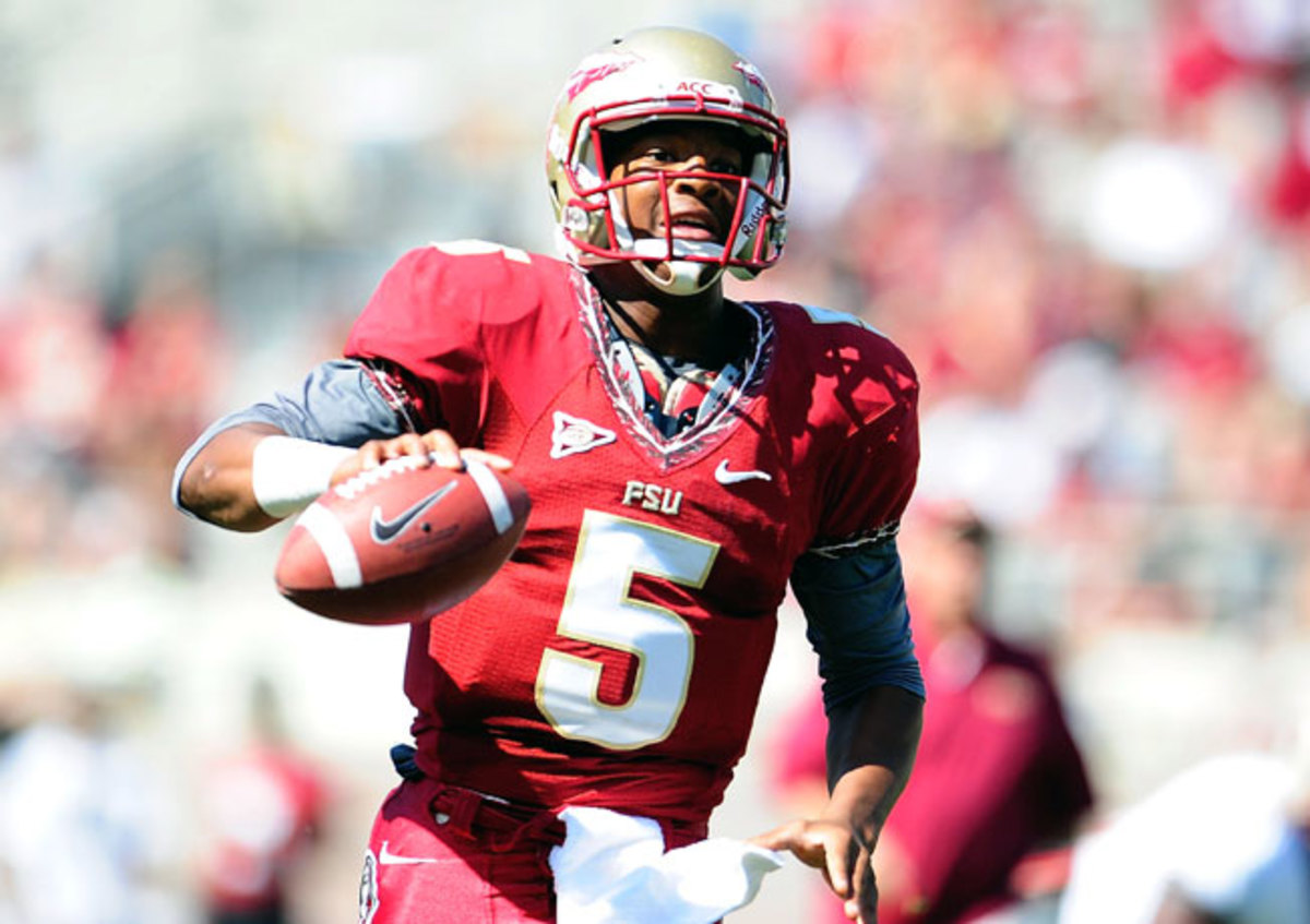 FSU's Jameis Winston has yet to complete a collegiate pass, but he's already generated plenty of buzz.