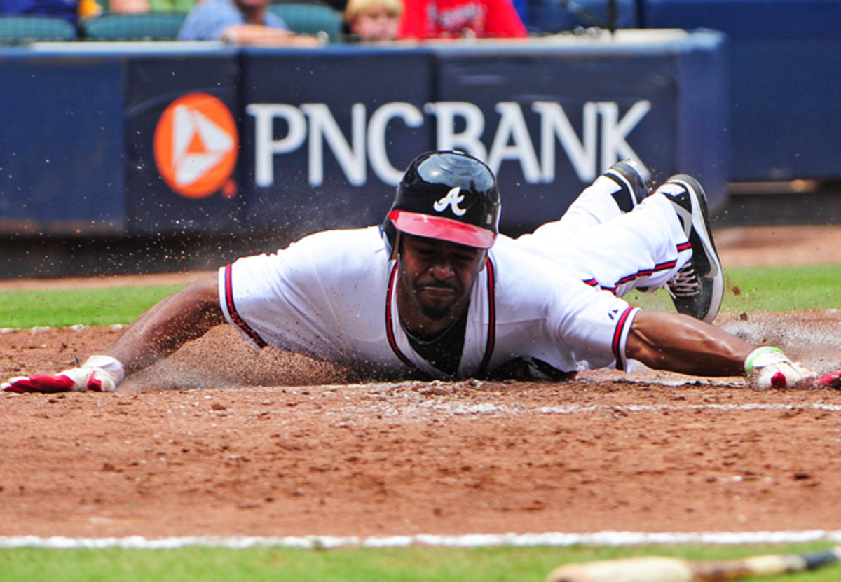 Michael Bourn is a career .272 hitter and averages 51 stolen bases a season.