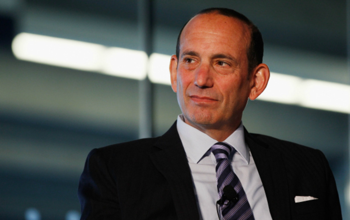 MLS Commissioner Don Garber announced the acquisition of the league's 20th expansion team by the New York Yankees and Manchester City. (Mike Stobe/Getty Images)