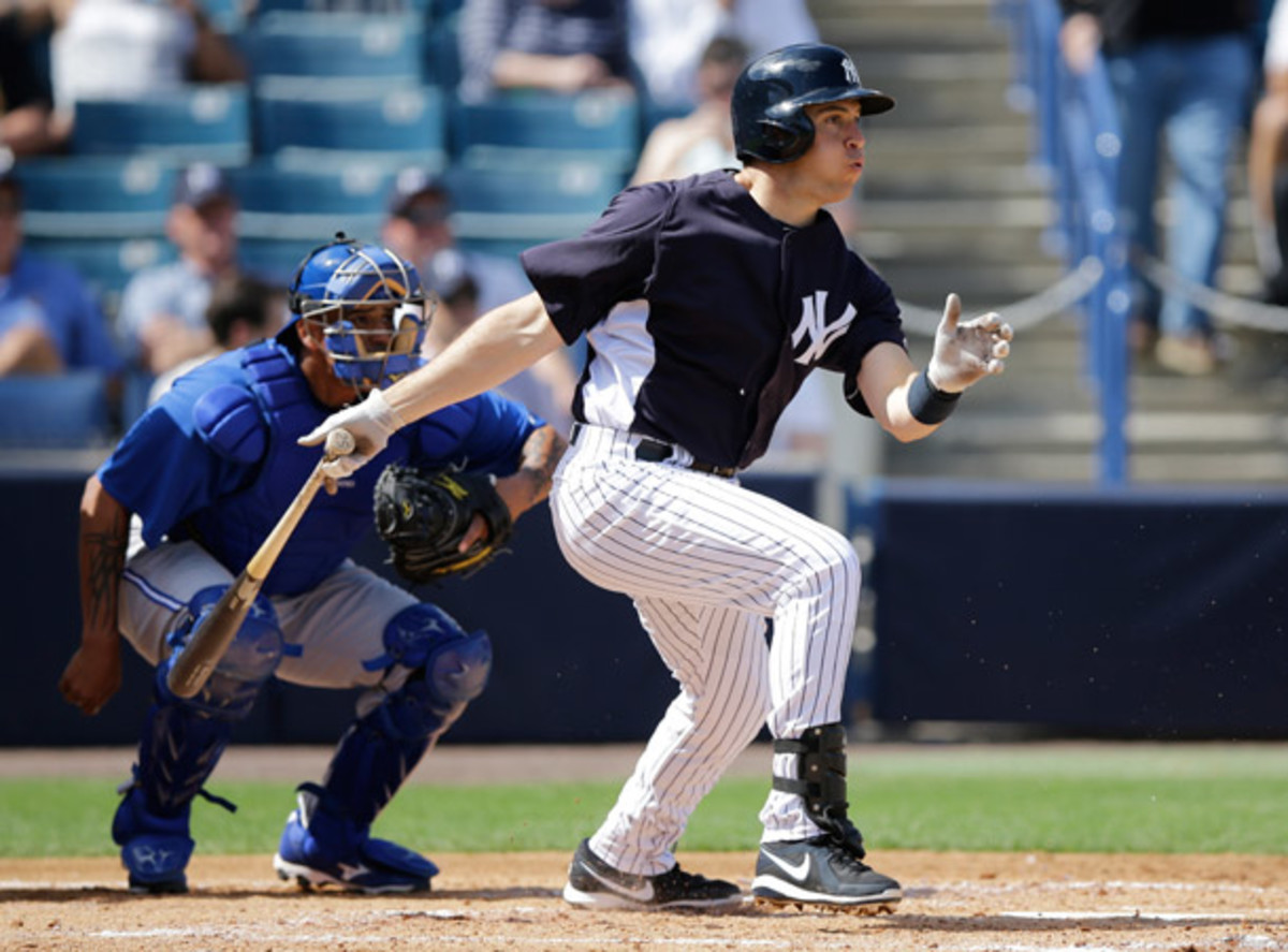 Mark Teixeira will be out until at least mid-May with a right wrist strain. (AP)