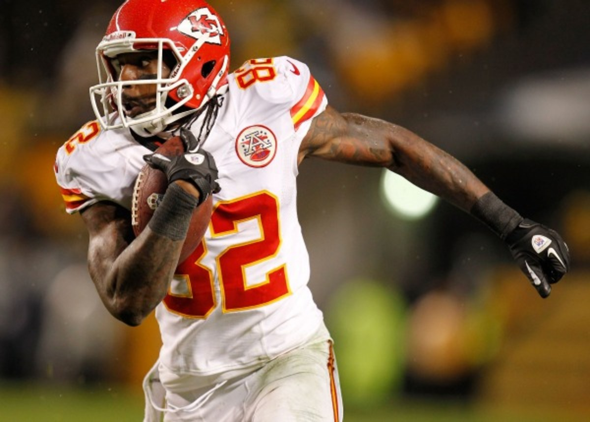 Dwayne Bowe has 39 receiving touchdowns in in six years with the Chiefs. (Gregory Shamus/Getty Images)